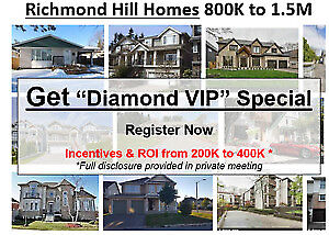 Richmond Hill Homes $800,000 to $1,500,000 !!