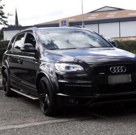 Audi Q7 3.0 TDI S-Line, Black Edition, Tiptronic Quattro. P/X Mercedes E220, C220, Golf R, BMW 520d