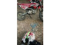 170cc Big Wheel pitbike for sale 125cc moped swaps considerd