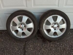 Ford Focus Aluminum Rims with Winter Grips 2000 -2011 Models