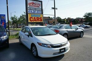2012 Honda Civic LX | POWER GROUP | AC | ACCIDENT FREE |