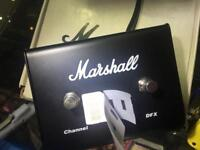 Marshall 2 way DFX guitar foot switch