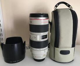 Canon EF 70-200mm F/2.8 EF IS L USM Lens - Immaculate Condition - £900 ONO