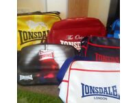 NEW WITH TAGS Variety of Dunlop & Lonsdale Sports Bags and Satchels