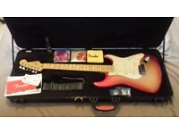 Fender American Deluxe Stratocaster (2014) + G-dec 3-30 Amp, Stand, Maintenance Mat & Stool