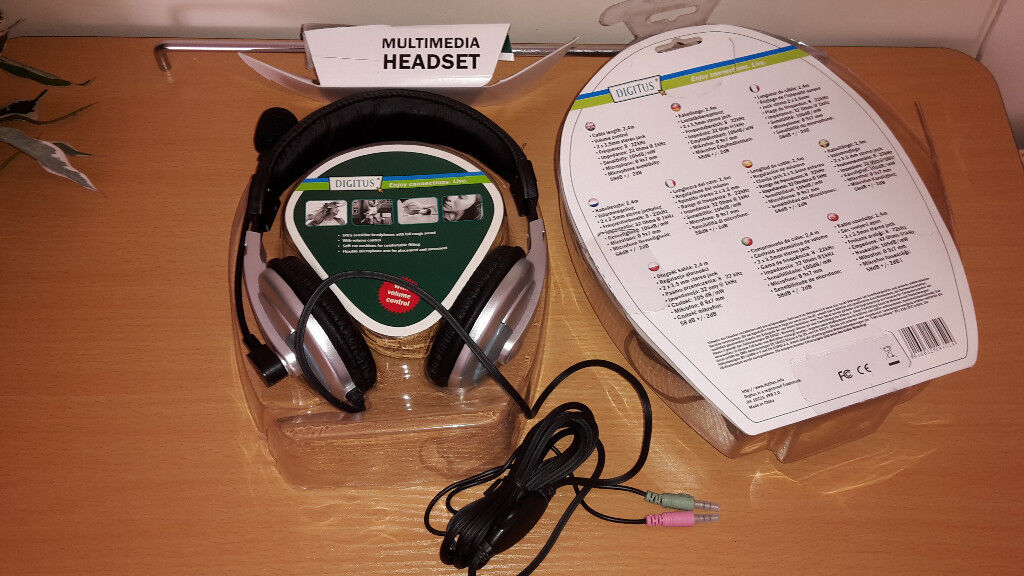 Digitus Multimedia Headset with Microphone