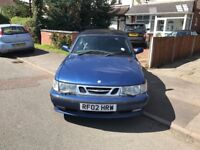 SAAB 9-3 AUTOMATIC CONVERTIBLE 2002 BLUE