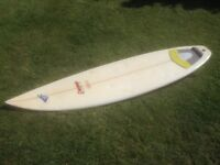 "Surfboard Dempsey 6ft 4"""