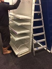 SHOP SHELVING MUST BE SOLD SHOPPING TROLLEYS SHOPPING BASKETS VER GOOD CONDITION MUST CLEAR