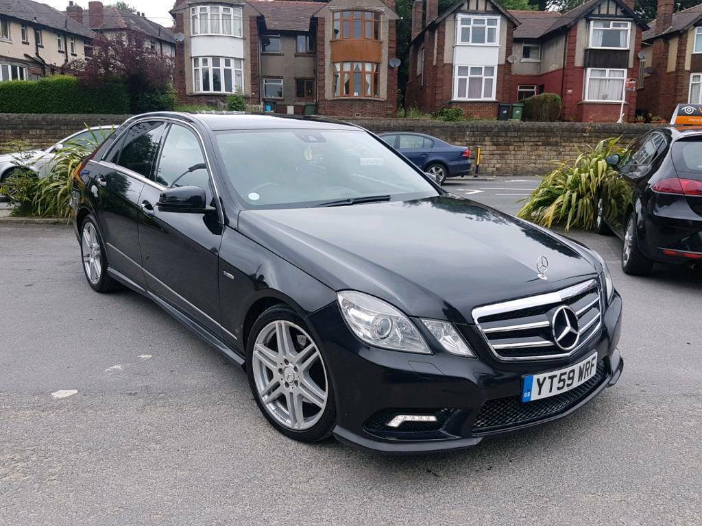 2010 mercedes e class e350 cdi amg sport twinturbo diesel 4 door black low mileage in dewsbury. Black Bedroom Furniture Sets. Home Design Ideas