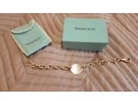 Tiffany bracelet round tag