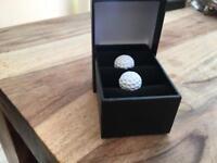 New white golf ball cuff links