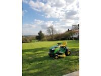 X145 John Deere sit on mower / ride on mower