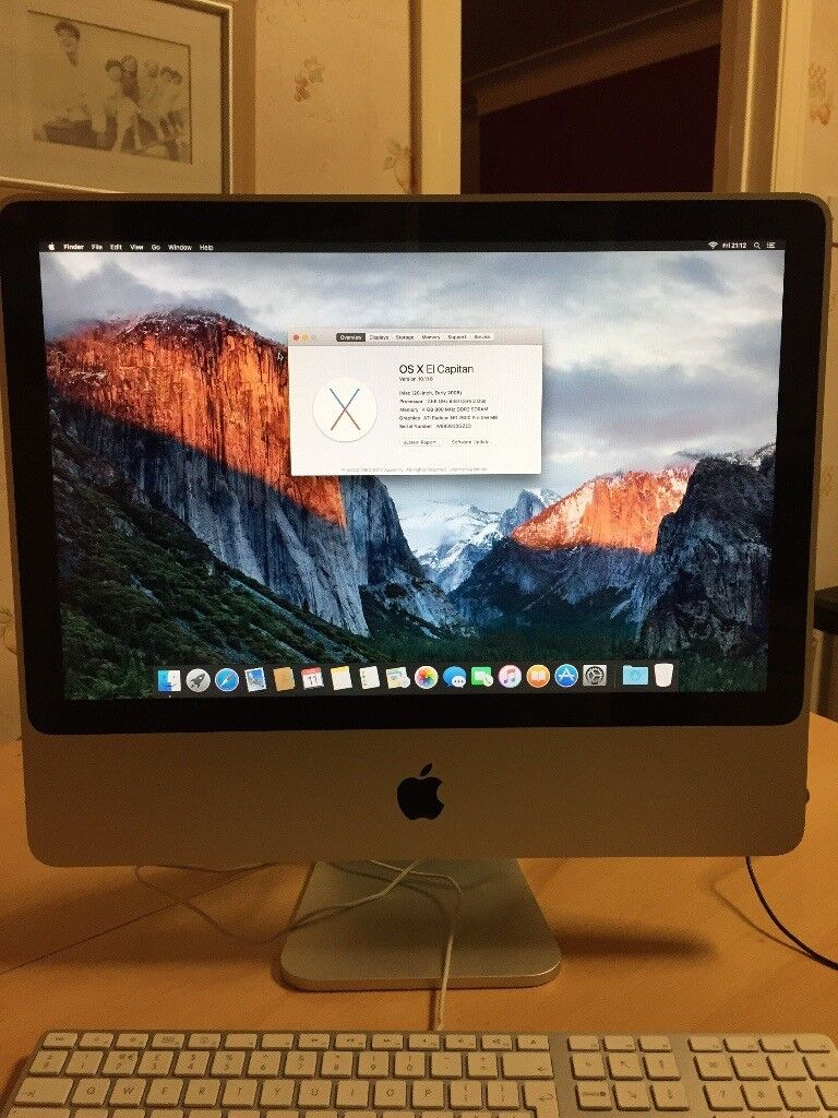iMac (20-inch, Early 2008) 2.66GHz Intel Core 2 Duo 4GB RAM