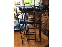 wine rack. Vintage metal look