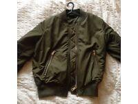 Topshop Khaki Bomber Jacket