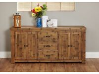 Shipton Rustic Extra Large Oak Sideboard - New - Free Delivery