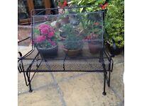 Glider garden bench