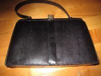 Vintage black Lizard Frame Handbag