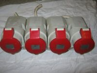 3 Phase Plugs ( x4 Off ) Ideal for Workshop