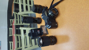 CANON CAMERA WITH LENSES