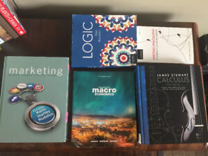 Textbooks for MKT 2210, PHIL 1290, ECON 1020, MATH 1500