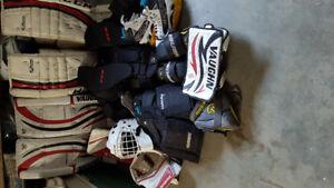 Full set of goalie gear 2 sets pads/blockers