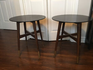 Set of mid century modern style side tables