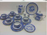 Arzberg Schumann china blau teaset/coffee set for six