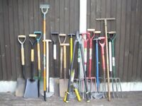 GARDEN HAND TOOLS TO MANY TO LIST , RANGE £3 TO £10 .