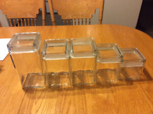 Another glass canister set