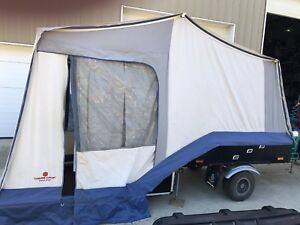 Motor cycle tent trailer