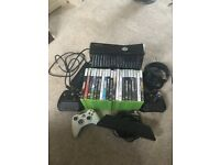 X BOX 360 , KINNECT 2 CONTROLLERS & 10 GAMES