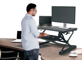 Sit Stand Office Desk Riser Workstation - Easy Gas Height Adjustment - New Condition!