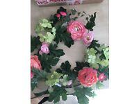 Floral wreath door wedding