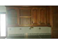 Vintage Stylish Kitchen Cupboards and Kitchen Top Set-All including cooker & Fridge Draw