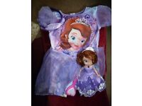 Princess Sophia talking doll and fancy dress to fit 3-4 yr old - Shipley