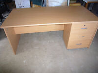 Office desk complete with drawer unit