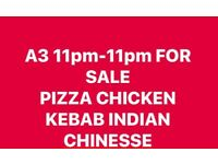 Empty A3 11pm11pm Pizza Indian Chinese kebab fried chicken fish and chips