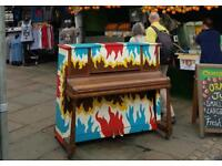 Camden Market Piano rescued before recent fire CAMDRNPIANORESCUE can deliver
