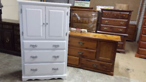 Professionally painted vintage dresser just completed