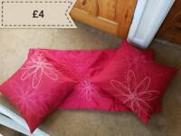 2 x cushions and bed runner