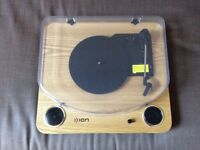 ION Max LP record deck with built in speakers and USB. Has been used a few times but not heavily.