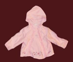 Baby girl hooded jacket, 12-18 months.