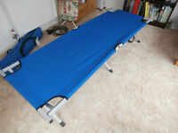 Folding Camp Bed - Steel Frame with carry case, used once, as new