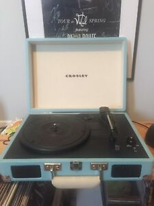 Crosley blue record player