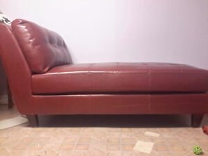 2 Leather lounges RED AND BROWN