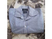 Austin Reed Men's Shirt in Fresh Blue & White Check – collar size 17R. RRP £25.00