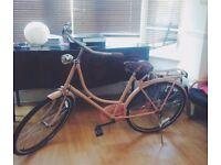 Vintage Dutch Bike For Sale - Baby pink