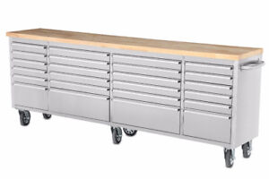 NEW 24 DRAWER S.S. 8 FT tool bench